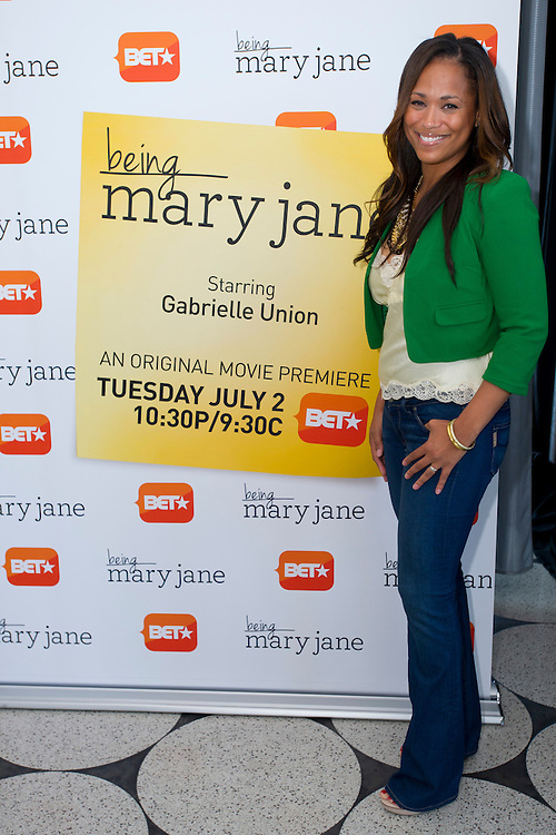 "Dallas television personality Shon Gables poses for a portrait before a screening of BET's ""Being Mary Jane"" at the W Hotel in Dallas, Texas on June 22, 2013."