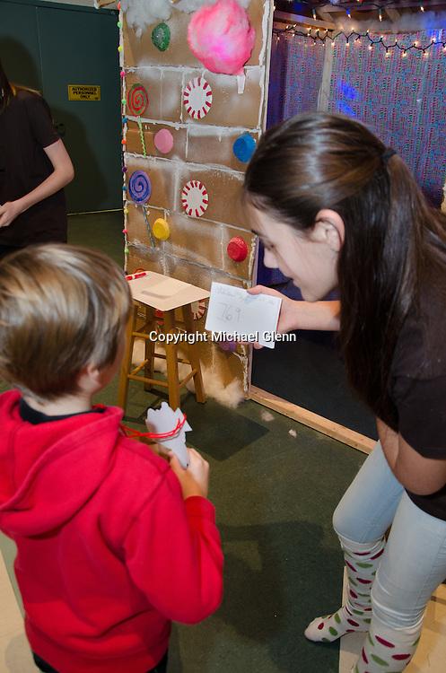 "19 Dec. 2013 Manahawkin USA Students get to build a gingerbread man in their annual ""Winter Wonderland"" Math exhibit"