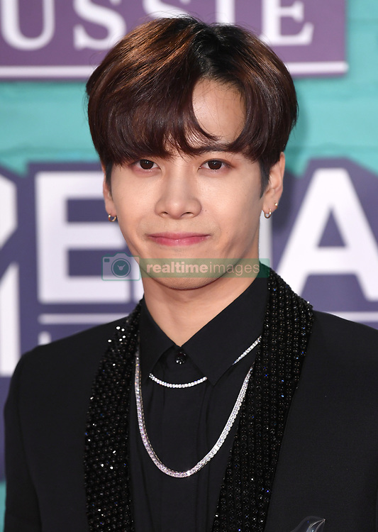 Jackson Wang arriving at the MTV Europe Music Awards 2017 held at The SSE Arena, London. Photo credit should read: Doug Peters/EMPICS Entertainment