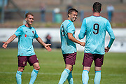 Olly Lee siles after scoring for Hearts during the Pre-Season Friendly match between Partick Thistle and Heart of Midlothian at Central Park Stadium, Cowdenbeathl, Scotland on 8 July 2018. Picture by Malcolm Mackenzie.
