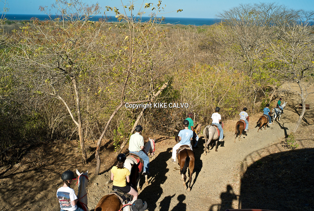 Horse tours at Hacienda Pinilla.Hacienda Pinilla, a 4,500-acre project in Guanacaste Peninsula, with more than 3 miles of beaches, hotels, villas and a golf course. B1276