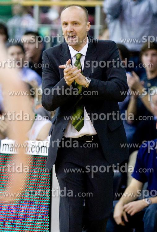 Head coach of Olimpija Jure Zdovc  at Euroleague basketball match in 6th Round of Group C between KK Union Olimpija and Maccabi Tel Aviv, on December 3, 2009, in Arena Tivoli, Ljubljana, Slovenia. Maccabi defeated Union Olimpija 82-65. (Photo by Vid Ponikvar / Sportida)