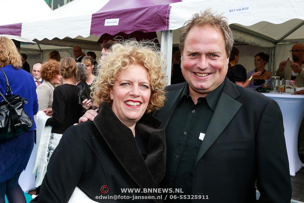 NLD/Amsterdam/20130601- Amsterdam diner 2013, Brigitte Kaandorp en partner Jan