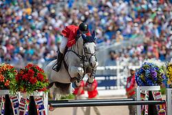 WARD McLain (USA), Clinta<br /> Tryon - FEI World Equestrian Games™ 2018<br /> FEI World Individual Jumping Championship<br /> Third cometition - Round B<br /> 3. Qualifikation Einzelentscheidung 1. Runde<br /> 23. September 2018<br /> © www.sportfotos-lafrentz.de/Stefan Lafrentz