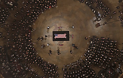 December 3, 2018 - Washington, District of Columbia, U.S. - The Bush family walks past as Former President George H. W. Bush lies in state in the U.S. Capitol Rotunda Monday.(Credit Image: © Morry Gash/Poll/CNP via ZUMA Wire)