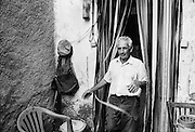 A farmer and shepherd at his home near Ste-Croix-de-Caderle in the Cévennes, in the Gard departement in the south of France.