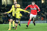 Tyrone O'Neill of Middlesbrough (45) almost gets on the end of a through ball during the EFL Trophy group stage match between Burton Albion and U21 Middlesbrough at the Pirelli Stadium, Burton upon Trent, England on 7 November 2018.