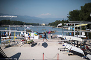 Plovdiv BULGARIA. 2017 FISA. Rowing World U23 Championships. <br /> <br /> Wednesday. AM, general Views, Course, Boat Area<br /> 09:24:10  Wednesday  19.07.17   <br /> <br /> [Mandatory Credit. Peter SPURRIER/Intersport Images].