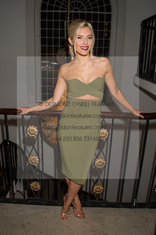 MOLLIE KING at a gala dinner to celebrate 15 Years of mothers2mothers hosted by Annie Lennox held at One Marylebone, 1 Marylebone Road, London NW1on 3rd November 2015.