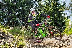 04.08.2016, Bikepark, Schladming, AUT, OeSV, Nordische Kombination, Mountainbike, Fototermin, im Bild David Pommer // David Pommer during a Photoshooting of Austrian Nordic Combined Team at the Bikepark, Schladming, Austria on 2016/08/04. EXPA Pictures © 2016, PhotoCredit: EXPA/ Dominik Angerer