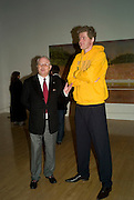 OLE FAARUP and JOHN KORNER, Private viewfor the opening of the Peter Doig exhibition. Tate Britain. Millbank. London. 5 February 2008.  *** Local Caption *** -DO NOT ARCHIVE-© Copyright Photograph by Dafydd Jones. 248 Clapham Rd. London SW9 0PZ. Tel 0207 820 0771. www.dafjones.com.