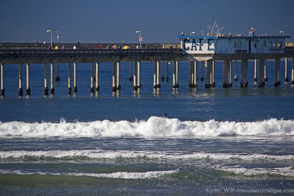 USA; California; San Diego. Ocean Beach Pier.