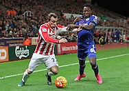 Xherdan Shaqiri of Stoke City and Baba Rahman of Chelsea in action during the Barclays Premier League match at the Britannia Stadium, Stoke-on-Trent.<br /> Picture by Michael Sedgwick/Focus Images Ltd +44 7900 363072<br /> 07/11/2015