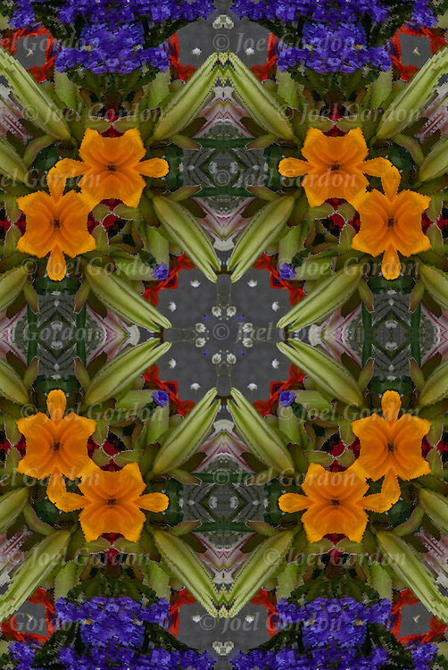 Photographic series of digital  flower/ flora computer art.<br /> <br /> Two or more layers used to enhance, alter and manipulate the image, creating an abstract surrealistic mirrored symmetry.