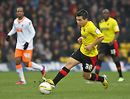 Picture by David Horn/Focus Images Ltd +44 7545 970036.09/03/2013.Cristian Battocchio of Watford during the npower Championship match at Vicarage Road, Watford.