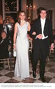Alice Ferguson & Robert de Segundo. 1998 Crillon Haute Couture Ball. Paris. 6/12/98<br />© Copyright Photograph by Dafydd Jones<br />66 Stockwell Park Rd. London SW9 0DA<br />Tel 0171 733 0108