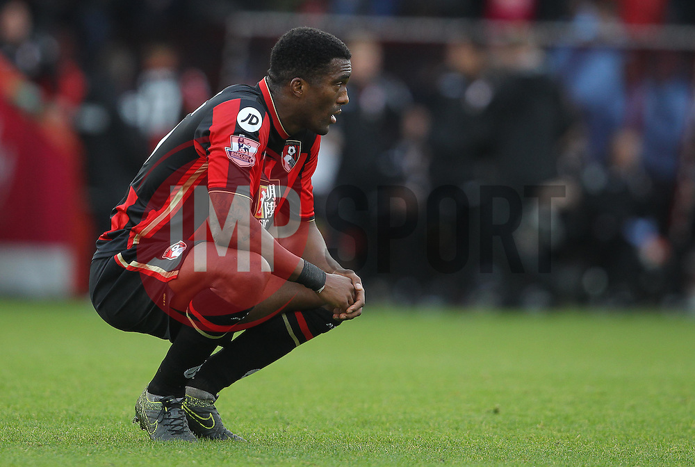 Sylvain Distin of Bournemouth looks dejected at the end of the match - Mandatory byline: Paul Terry/JMP - 07966 386802 - 07/11/2015 - FOOTBALL - Vitality Stadium - Bournemouth, England - AFC Bournemouth v Newcastle United - Barclays Premier League