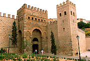 SPAIN, LA MANCHA, TOLEDO 'Old Bisagra Gate' through city walls