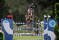 Newermaan Solveig (NOR) - Wodka<br /> FEI European Jumping Championship for young riders <br /> Arezzo 2014<br /> © Hippo Foto - Stefano Secchi