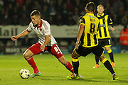 Sheffield United midfielder Paul Coutts takes the ball from Burton Albion midfielder Robbie Weir during the Sky Bet League 1 match between Burton Albion and Sheffield Utd at the Pirelli Stadium, Burton upon Trent, England on 29 September 2015. Photo by Aaron Lupton.