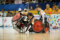 14 August 2015: TO2015 Parapanam Games, Wheelchair Rugby Gold medal match Canada v USA, Mississauga Sports Centre. Mike Whitehea