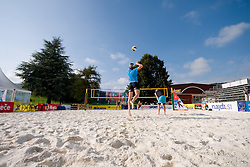 Team Norway at practice 1 day before CEV European Continental Beach Volleyball Cup for Olympic Qualification, on September 3, 2010, in Zrece, Slovenia. (Photo by Matic Klansek Velej / Sportida)