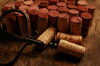 red wine corks - Photograph by Owen Franken