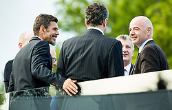 Zvonimir Boban (Croatia), Dejan Savicevic (Montenegro), Davor Suker (Croatia) and Gianni Infantino, president of FIFA during Official opening of the Slovenian National football centre Brdo (Nacionalni nogometni center Brdo), on May 6, 2016, in Brdo pri Kranju, Slovenia. Photo by Vid Ponikvar / Sportida