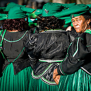 Herero women in Mbanderu (green flag herero) day at Okahandja