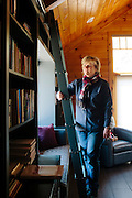 Best-selling crime writer Karin Slaughter in her cabin in the North Georgia mountains April 2, 2013.