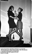 Carolyn Wroughton and Shona McKinney at Jo Farrell's 30th birthday party. Polish Club. London. 1988. Film 88364f6<br />© Copyright Photograph by Dafydd Jones<br />66 Stockwell Park Rd. London SW9 0DA<br />Tel 0171 733 0108