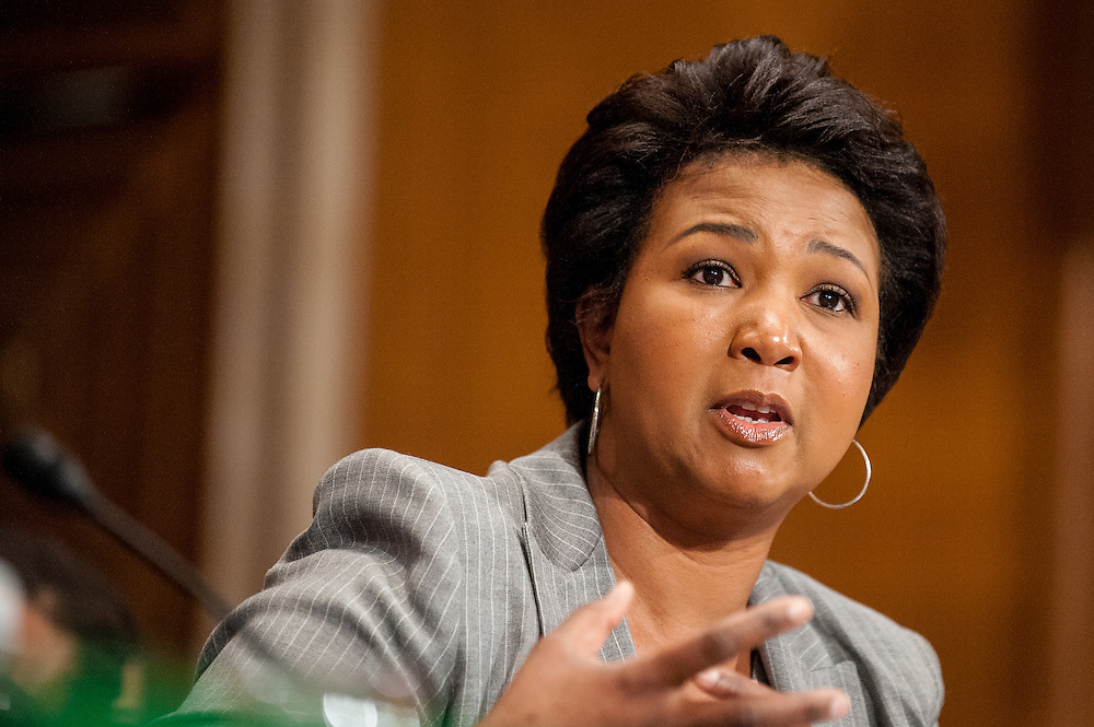 Physician and retired NASA astronaut MAE CAROL JEMISON testifies before a Senate Health, Education, Labor and Pensions Committee hearing on Capitol Hill Tuesday about the impact of Title IV forty years later.