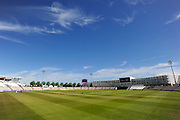 The Ageas Bowl on a hot sunny morning during the Specsavers County Champ Div 1 match between Hampshire County Cricket Club and Surrey County Cricket Club at the Ageas Bowl, Southampton, United Kingdom on 18 July 2016. Photo by Graham Hunt.