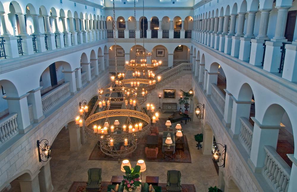 The Cloister, Sea Island,  Georgia, World renowned luxury resort interior dusk