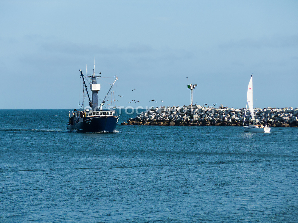 Fishing Boat Coming Back Into The Dana Point Harbor
