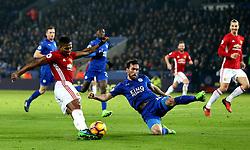 Luis Antonio Valencia of Manchester United crosses the ball - Mandatory by-line: Robbie Stephenson/JMP - 05/02/2017 - FOOTBALL - King Power Stadium - Leicester, England - Leicester City v Manchester United - Premier League