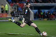 Lewis Price (Rotherham United) takes a goal kick during the EFL Sky Bet Championship match between Rotherham United and Brighton and Hove Albion at the AESSEAL New York Stadium, Rotherham, England on 7 March 2017. Photo by Mark P Doherty.