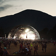 The Bass Camp stage at the Pemberton Music Festival.  Pemberton BC, Canada
