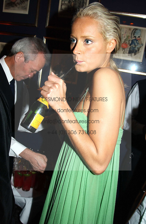 KALITA AL-SWAIDI at a party hosted by Tatler magazine to celebrate the publication of the 2004 Little Black Book held at Tramp, 38 Jermyn Street, London SW1 on 10th November 2004.<br />