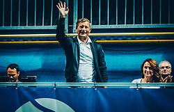 Karl Erjavec during Trophy ceremony after the Final match of ATP Challenger Zavarovalnica Sava Slovenia Open 2017, on August 12, 2017 in Sports centre, Portoroz/Portorose, Slovenia. Photo by Vid Ponikvar / Sportida