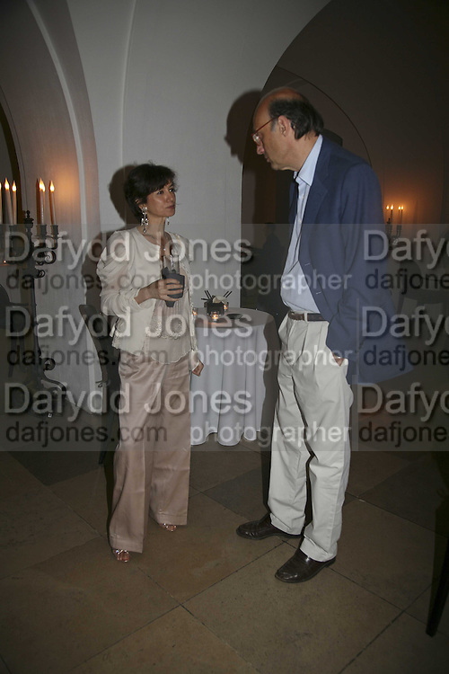 Prince and Princess Grovanni Aldobrandini,  opening of Bill Viola exhibition Love/Death: The Tristan project. Haunch of Venison, St Olave's College, Tooley St. London and Dinner afterwards at Banqueting House. Whitehall. 19 June 2006. ONE TIME USE ONLY - DO NOT ARCHIVE  © Copyright Photograph by Dafydd Jones 66 Stockwell Park Rd. London SW9 0DA Tel 020 7733 0108 www.dafjones.com