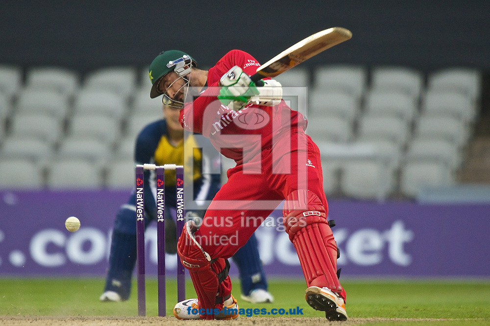 Junaid Khan of Lancashire Lightning during the Natwest T20 Blast match at Old Trafford Cricket Ground, Stretford<br /> Picture by Ian Wadkins/Focus Images Ltd +44 7877 568959<br /> 30/05/2014