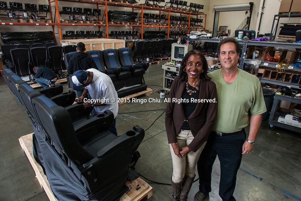 Dan Jamele and Alison Jamele, prinicpals of MediaMation.<br /> (Photo by Ringo Chiu/PHOTOFORMULA.com)