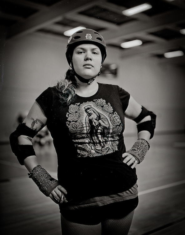 Holy Bacamole of the newly formed Granite State Roller Derby team from Concord, NH.