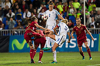 England's Steph Houghton Lucy Bronze during the frendly match between woman teams of  Spain and England at Fernando Escartin Stadium in Guadalajara, Spain. October 25, 2016. (ALTERPHOTOS/Rodrigo Jimenez)