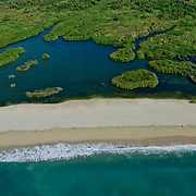 Aerial view of the Estuary in San Jose del Cabo. Baja California Sur, Mexico.