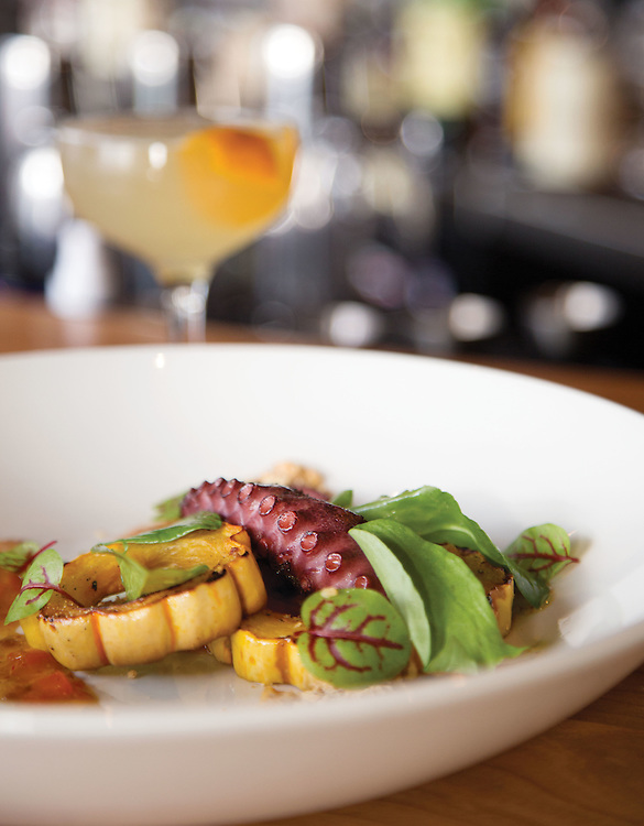 Spanish grilled octopus Salt and Pine downtown. (Will Shilling/Columbus Monthly)