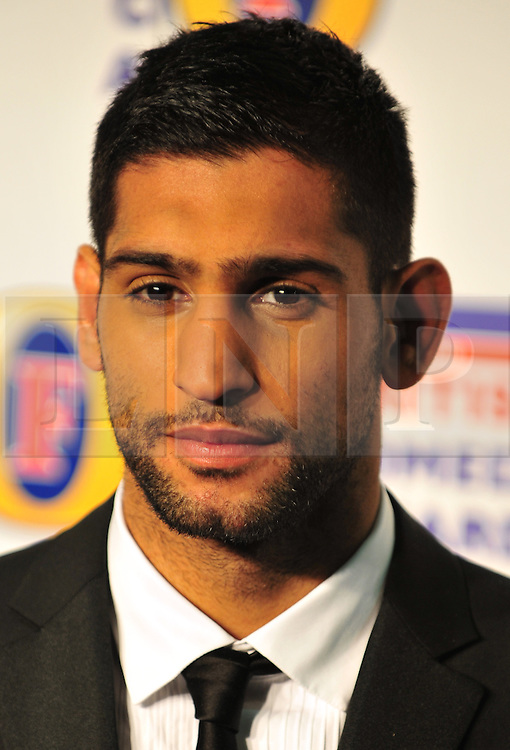 © Licensed to London News Pictures. 16/12/2011. London, England. Amir Khan attends the Channel 4 British Comedy Awards  in Wembley London .  Photo credit : ALAN ROXBOROUGH/LNP