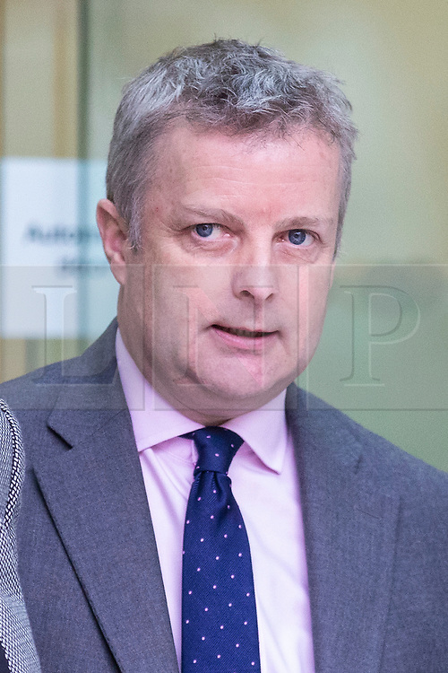 © Licensed to London News Pictures. 22/03/2019. London, UK. Conservative MP Christopher Davies leaves Westminster Magistrates Court where he entered a guilty plea to two charges relating to expenses claims. Photo credit: Rob Pinney/LNP