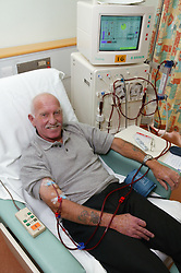 Renal outpatient on Dialysis machine,